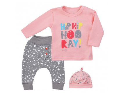 3-dielna detská súprava Koala Hip-Hip ružová