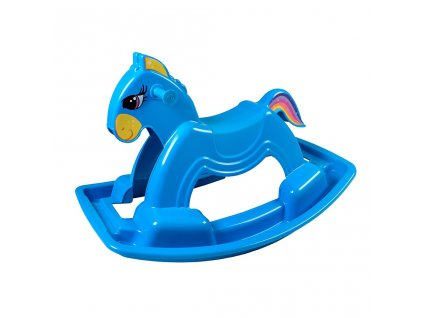 Hojdací koník plastový BAYO 92 cm modrý