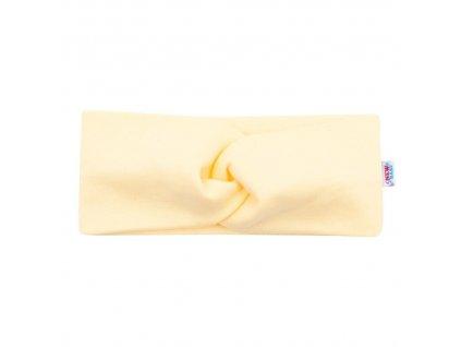 Dojčenská čelenka New Baby Style žltá 40,5 cm
