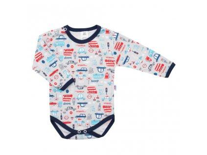 Dojčenské body s dlhým rukávom New Baby For Boys