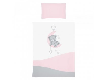 6-dielne posteľné obliečky Belisima Teddy Bear 100/135 ružové