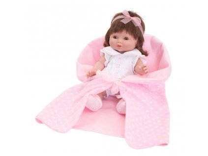 Luxusná detská bábika-bábätko Berbesa Monika 35cm
