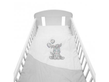 2-dielne posteľné obliečky New Baby Zebra exclusive 90/120 bielo-sivé