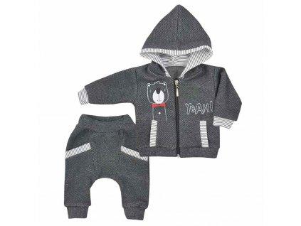 Dojčenské tepláčky a mikinka s kapucňou Koala Yeah grey