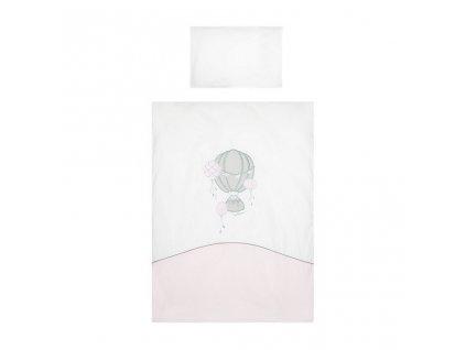 3-dielne posteľné obliečky Belisima Ballons 90/120 ružové