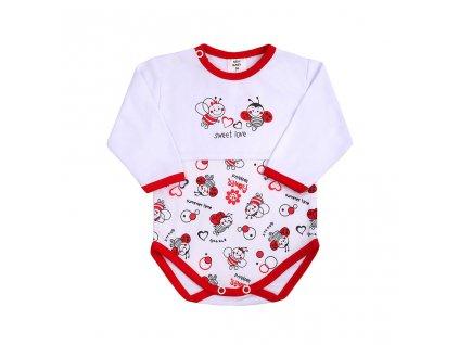 Dojčenské body s dlhým rukávom New Baby Lienka