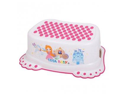 Detské protišmykové stúpadlo do kúpeľne Malá Princezná biele