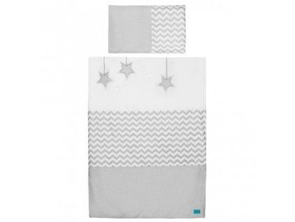 2-dielne posteľné obliečky Belisima Hviezdička 100x135 šedé