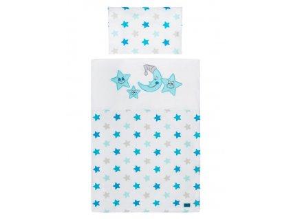 5-dielne posteľné obliečky Belisima Veselé Hviezdičky 100/135 modré