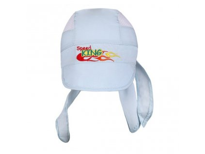 Letná detská čiapočka-šatka New Baby Speed King svetlo modrá