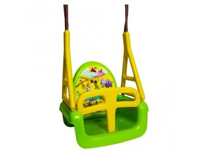 Detská hojdačka 3v1 safari Swing green