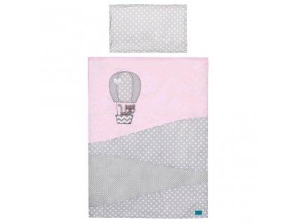 5-dielne posteľné obliečky Belisima Balón 100x135 ružové