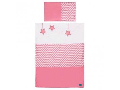 5-dielne posteľné obliečky Belisima Hviezdička 90/120 ružové