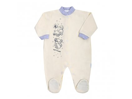 Dojčenský overal New Baby Kamaráti smotanový