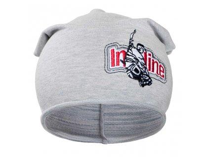 Jesenná detská čiapočka New Baby In-line sivá