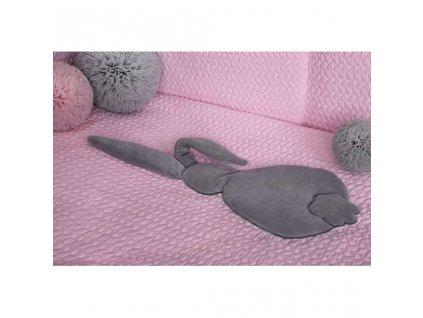 3-dielne posteľné obliečky Belisima Králiček 90/120 ružovo-sivé