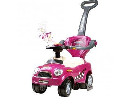 Detské hrajúce jazdítko-odrážadlo 3v1 Bayo Super Coupe purple