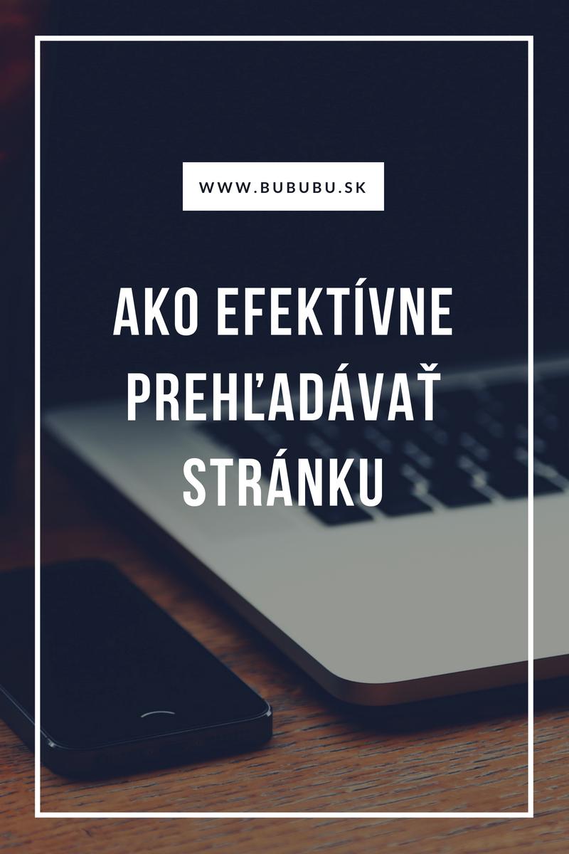 Ako najefektívnejšie prehľadávať stránku