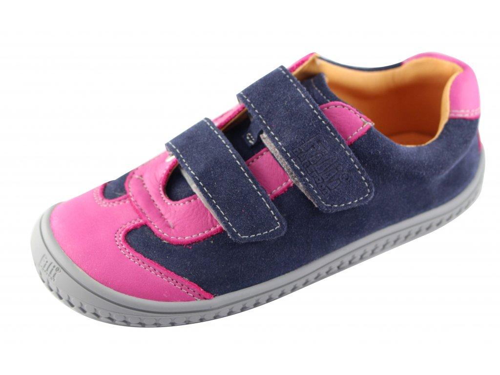 Kožené tenisky Leguan ocean pink velour W - bububu.sk 8230b32ff94