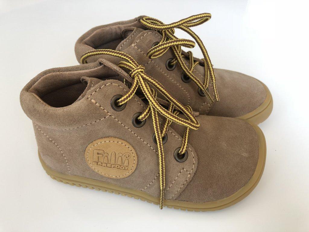 0fbb55a299310 Kožené topánky cappuccino/velour M, šnúrovacie - bububu.sk