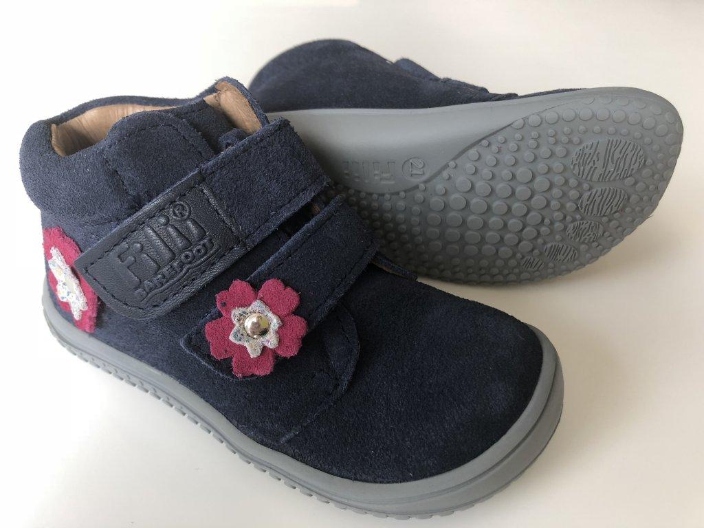 Kožené topánky ocean flower velour M - bububu.sk 74dfdf8e7cb