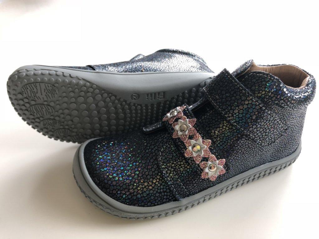1fcf845269cce Kožené topánky ocean/glitter flower/M - bububu.sk