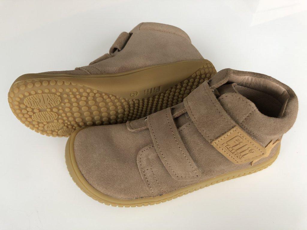 Kožené topánky cappuccino velour M - bububu.sk c1b85f49c1d