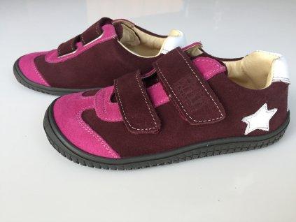 Kožené tenisky Leguan berry/pink M