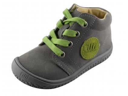 Kožené topánky stone/apple/velour M, šnúrovacie