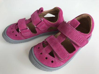 Kožené sandálky pink/velour W