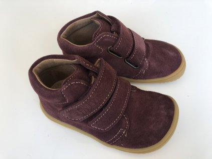 Kožené topánky berry/velour W