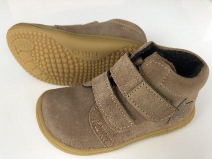 Kožené topánky Cappuccino/Fleece/Velour M