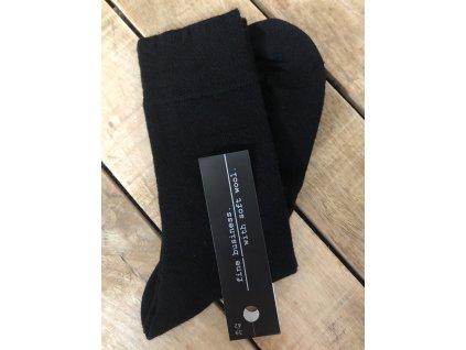 Ponožky s prímesou vlny - black