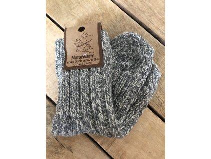 Detské ponožky s prímesou vlny - gray