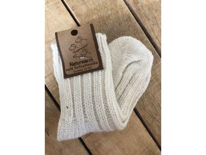Detské ponožky s prímesou vlny - nature