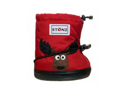 detske outdoor capacky booties moose red