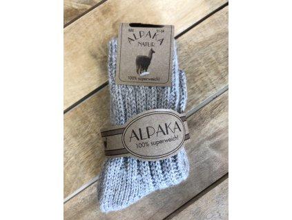 Detské hrubé ponožky Alpaka Natur - lila