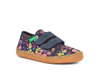 Froddo Barefoot sneakers denim+ text.