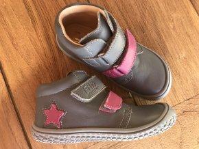 Kožené topánky stone/pink M (Veľkosť 26)