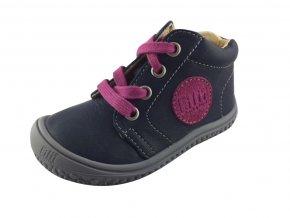 Kožené topánky ocean/pink/nappa M, šnúrovacie