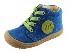 Kožené topánky royalblue/apple/velour M, šnúrovacie