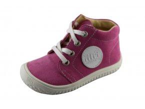 Kožené topánky rose/velour M, šnúrovacie