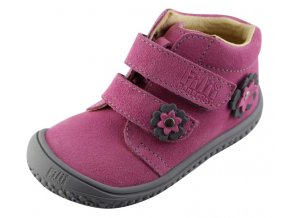 Kožené topánky rose/flower grey/velour M