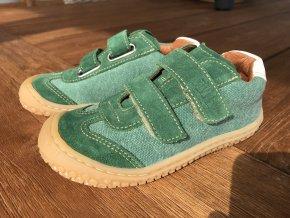 Tenisky green/textil/velour M