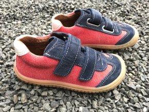 Tenisky red/ocean/textil/velour M