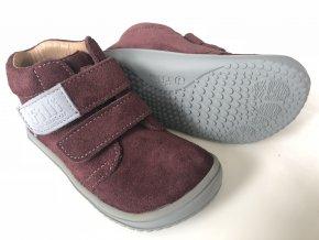 Kožené topánky berry/velour M