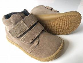 Kožené topánky Cappuccino/Fleece/Velour W