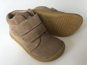 Kožené topánky Cappuccino/velour W