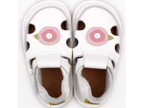 barefoot kids sandals white rose 9559 4