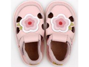barefoot kids sandals pink flower 9569 4